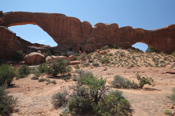North and South window in Arches national park
