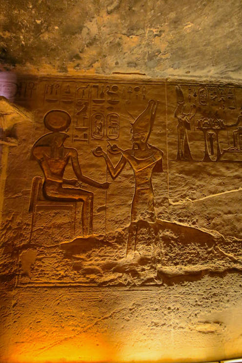 Inisde the Abu Simbel