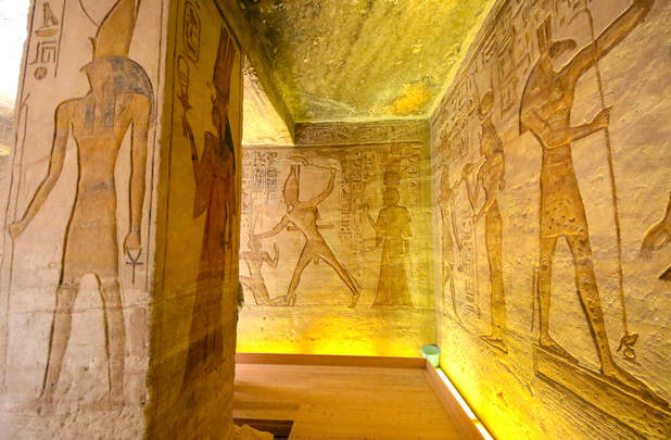 Art inside Abu Simbel