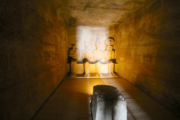 The Gods in the big Abu Simbel temple