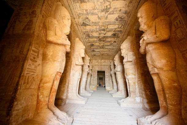 Entrance and statues at Abu Simbel