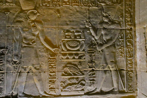 Edfu Temple art