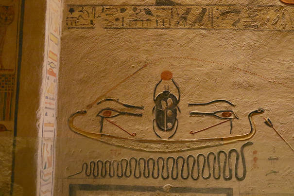 Scarab in tomb